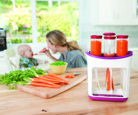 Infant Food Storage Systems - Infantino's Squeeze Station Makes Packaging DIY Baby Food a Breeze