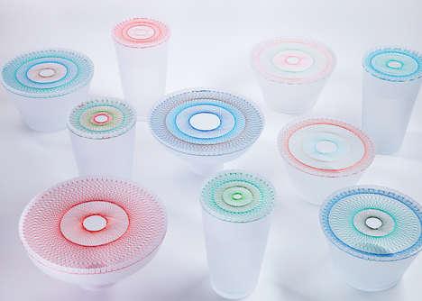 Geometric Stitched Tableware
