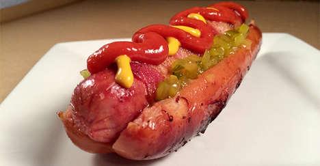 Hotdog-Stuffed Sausage Buns