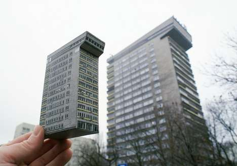 Miniature Recycled Buildings