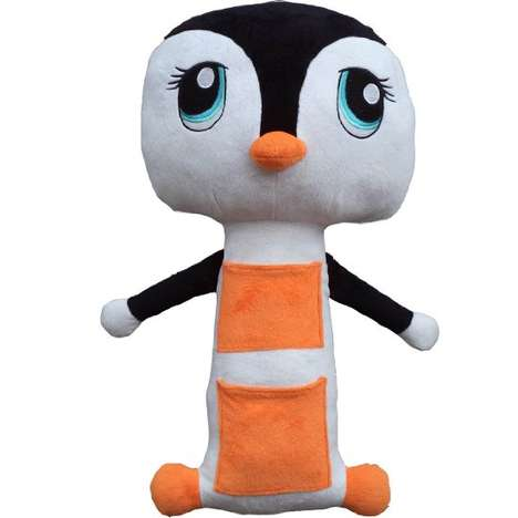 Plush Toy Seat Belts - The Penguin Seat Belt Cover Ensures Your Kid Has a Comfortable Ride
