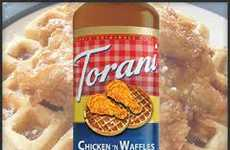 Poultry-Infused Breakfast Syrups - The Chicken 'n Waffles Syrup by Torani is Sweet and Savory