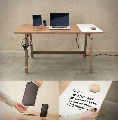 Tidy Minimalist Tech Desks - The 01 Desk by Artifox is a Stunning Tech Desk for All Your Devices