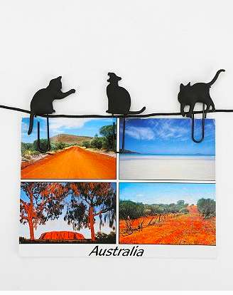 Playful Feline Paperclips - Cat Photo Clips are a Cute Way to Pin Up Pictures Around Your Room