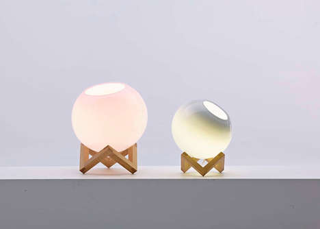 Transparent Pastel Lamps