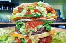 Double Taco Bun Burgers - This Burger Uses Tacos as Buns for a Crunchy Alternative