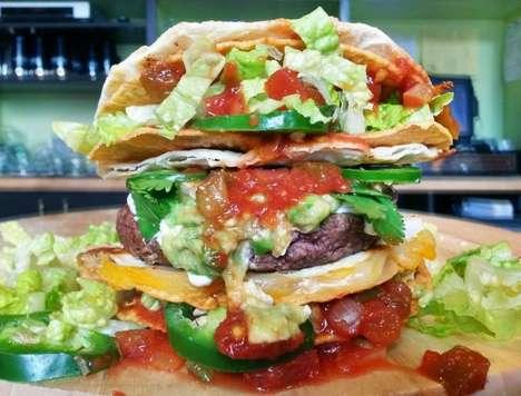 Double Taco Bun Burgers