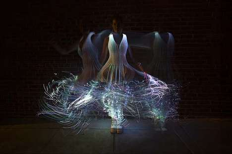 Glowing Fiber Optic Dresses - This DIY Fiber Optic Dress Will Make You the Star of the Show