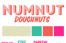 Shameless Donut Packaging - Numnut Donuts by Hannah Lynch Celebrates Indulgence
