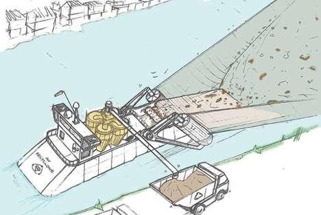 Vacuum-Like River Cleaners