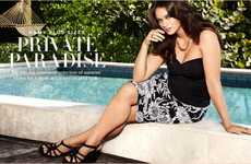 Curvaceous Poolside Fashion Catalogs