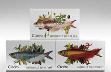 Vibrantly Flavorful Sardine Boxes - Catia Oliveira's Cicero Packaging Represents a World of Flavors