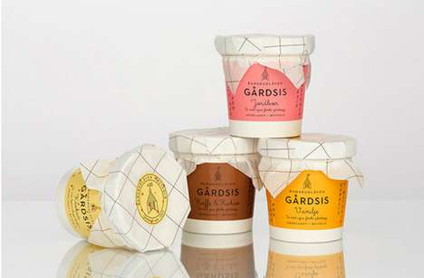 Rural-Focused Branding - Bamsrudlaven Gardsis Ice Cream by 'OlssonBarbieri' is Inspired by the Farm