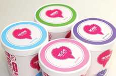 Playful Speech Bubble Packaging - The Noshi Ice Cream Branding is Comical