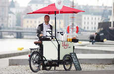 Bike-Powered Coffee Carts - The Sustainable and Affordable Wheely's Cafe Can Take on Starbucks