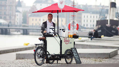 Bike-Powered Coffee Carts