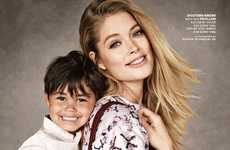 Mother-Child Fashion Ads - The Born Free Africa Campaign Stars Doutzen, Sasha and Karolina