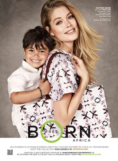 Mother-Child Fashion Ads