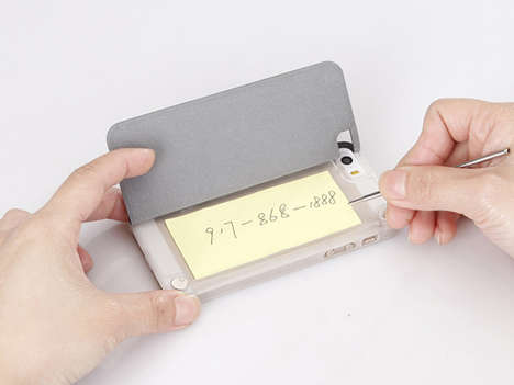 Notepad Smartphone Protectors - MemoCase by Kate Zhang Opens Up to Pen and Paper for Idea Jotting