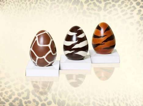 Wildly Patterned Chocolate Eggs - Roberto Cavalli's Luxury Easter Eggs Are on the Wild Side