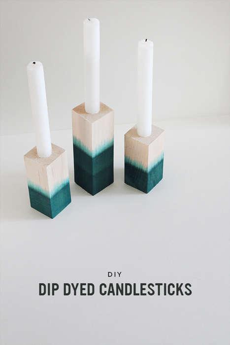 DIY Tie-Dye Candlesticks