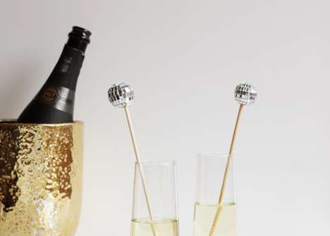 Glitzy Disco Stir Sticks - These DIY Stir Sticks are Great for an Elegant Cocktail Party