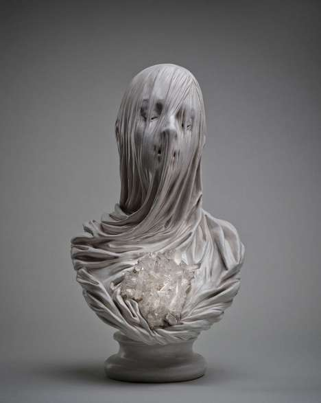 Hauntingly Veiled Sculptures