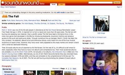 Crowdsourcing Music Wikis - Amazon Launches SoundUnwound.com