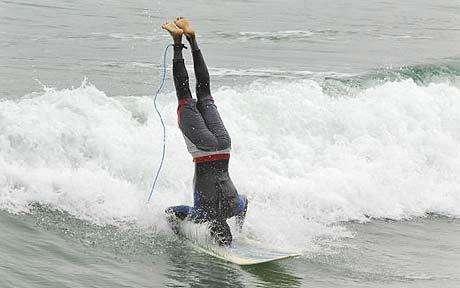 Upsidedown Surfing