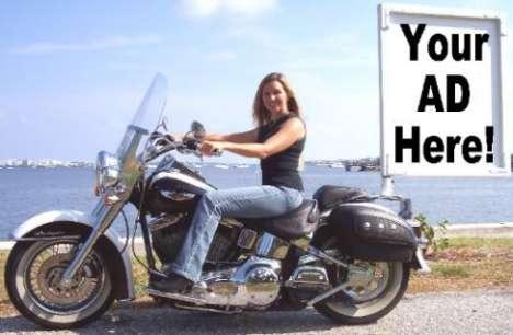 Female Bikevertising