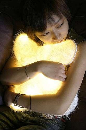 Furry LED Pillows