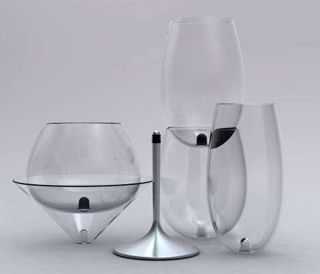 Interchangeable Wine Glasses