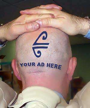 Image result for using bald head to advertise