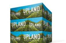 Hipster Brewery Rebranding - Upland Brewing Co.'s New Modern Beer Branding is Vibrant