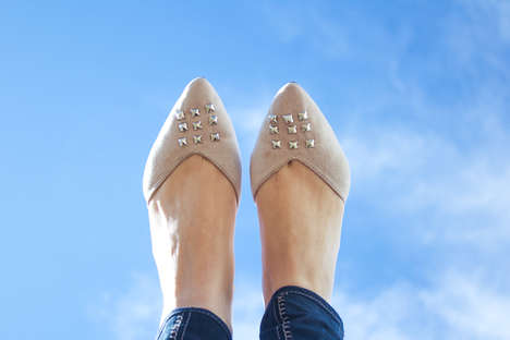 Bedazzled Flat Tutorials - These DIY Studded Flats are the Perfect Project for Summer