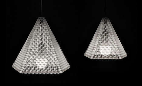 Flat-Packed 3D-Printed Lampshades - The ZooM Lampshade by Michiel Cornelissen Ontwerp is Chic