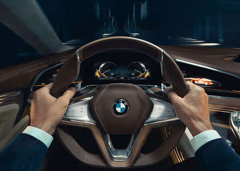 Data-Powered Vehicles - BMW Unveiled Its New Concept Vision Future Luxury Car