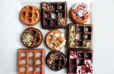 Waffle Donut Desserts - Chicago's Waffle Cafe's Wonut Combines a Breakfast Staple and Sugary Treat