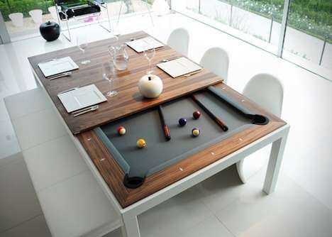 Hybrid Pool Tables - These Muti-Purpose Pool Tables are the Latest From Fusion Tables