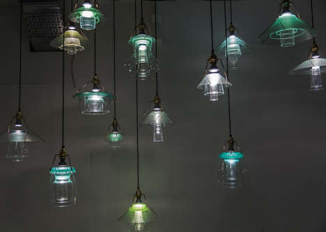 Recycled Stacked Lighting - This New Line of Lamp Shades is Vintage and Whimsical