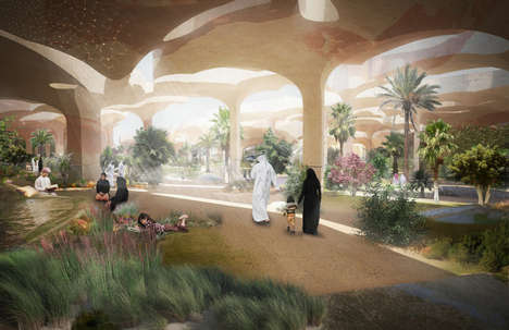 Desert-Resembling Canopies - Thomas Heatherwick Creates the Al Fayah Park in Abu Dhabi
