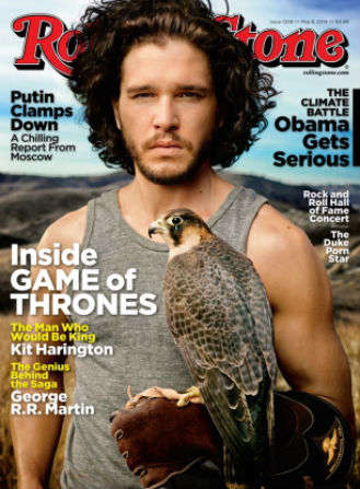 Hawk-Holding Celeb Cover Shoots