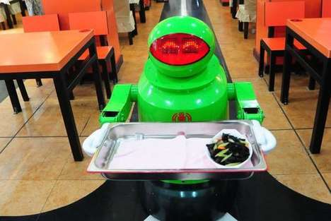 Serving Robot Restaurants - The Robot Restaurant in China is Almost Entirely Run by Mechanical Men