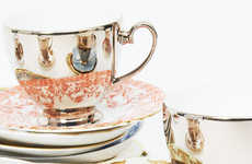 Cleverly Mirrored Teacups - Reflect by Richard Brendon Addresses Problem of Orphaned Saucers