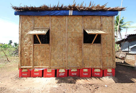 Paper Log Abodes - Shigeru Ban Constructs Temporary Shelters to Help the Philippines