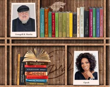 Celebrity Bookshelf Infogrpahics