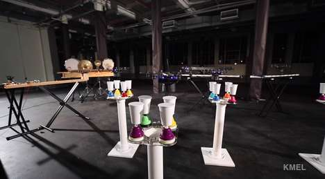 Flying Robot Rockstars - These Robots Play Musical Instruments Extremely Well