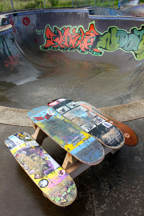 Skateboard Picnic Tables