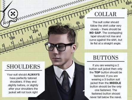 Stylish Suit Infographics