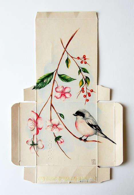 Broken Box Bird Paintings